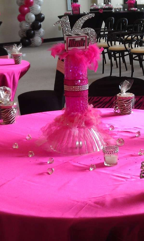 "Birthday Decoration Ideas for Sweet 16 Best Of Pink & Zebra Sweet 16"" Birthday Party Ideas"