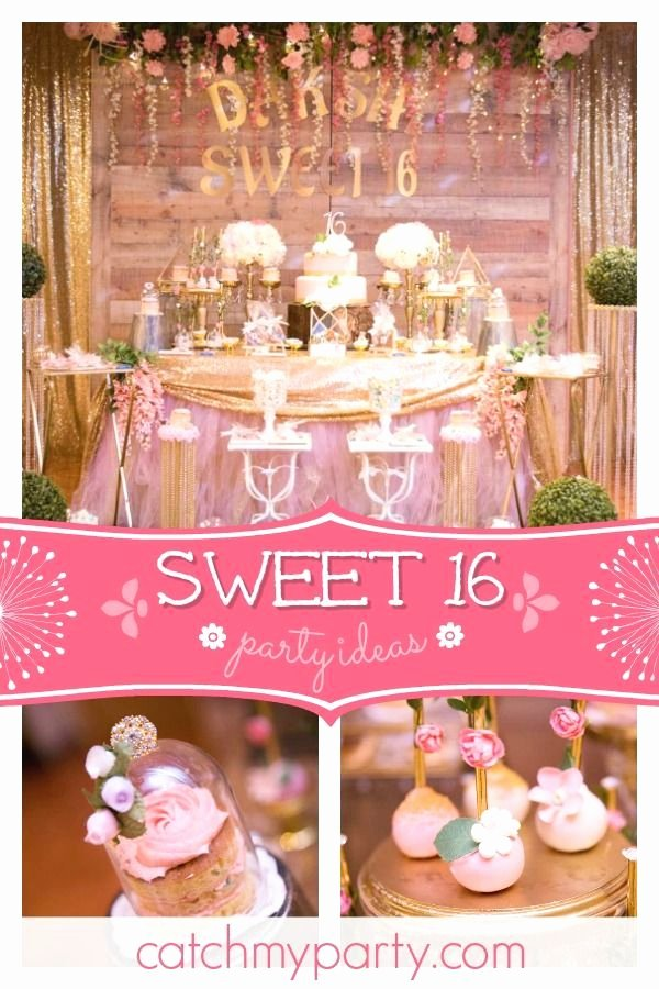 "Birthday Decoration Ideas for Sweet 16 Elegant Rustic Fairy theme Birthday ""sweet 16 Birthday Party"