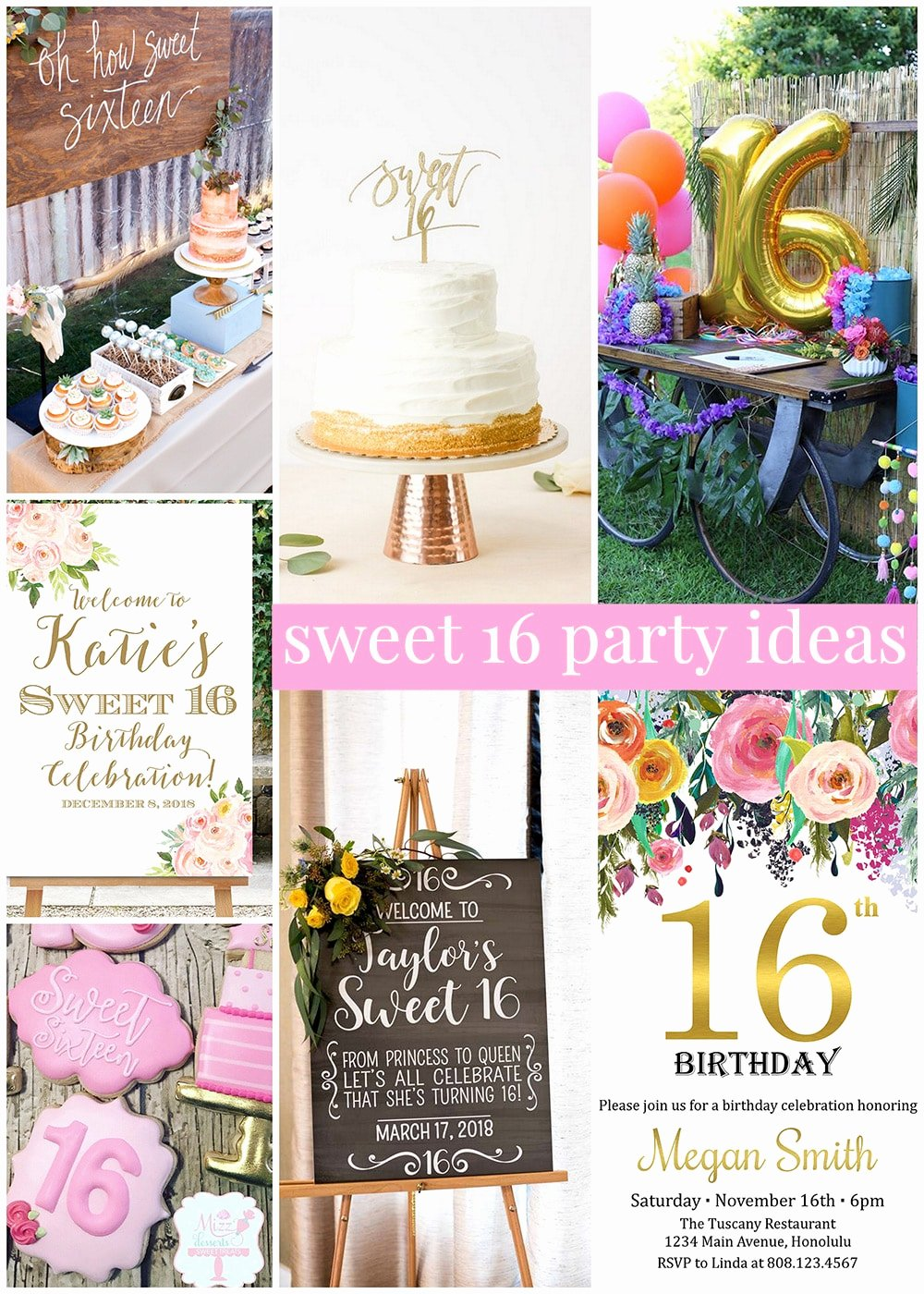 Birthday Decoration Ideas for Sweet 16 Fresh Sweet 16 Party Ideas