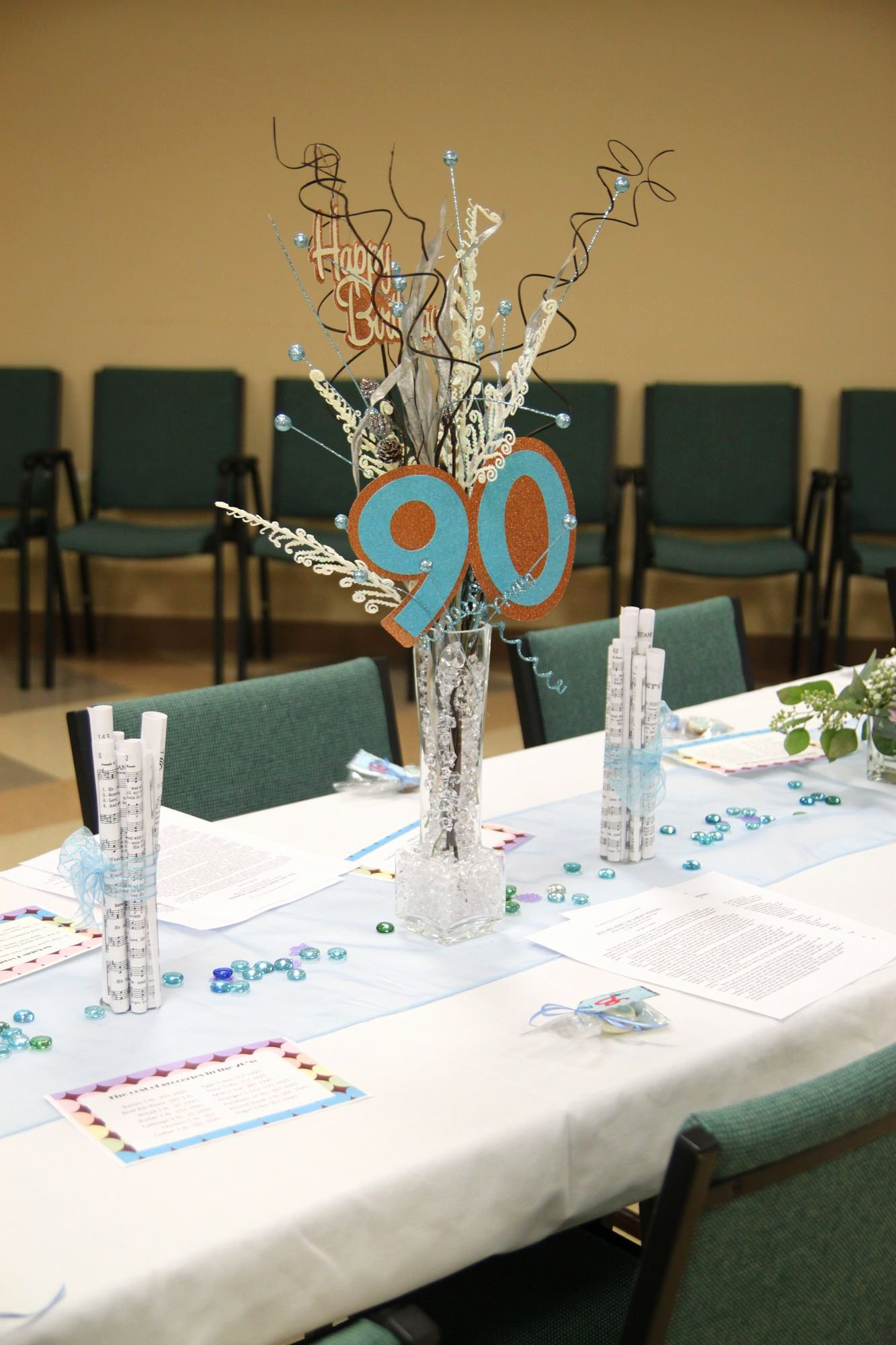 Birthday Decoration Ideas for Table Inspirational Centerpieces for Mom S 90th Birthday