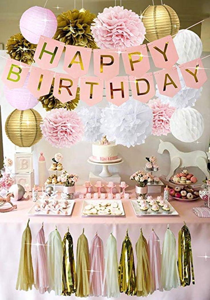 Birthday Decoration Ideas for Teenage Girl Fresh Pink Gold Birthday Decorations Pink Birthday Banner Pink