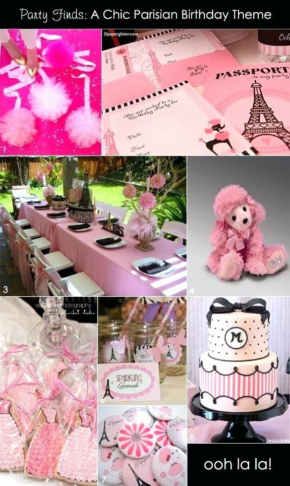Birthday Decoration Ideas for Teenage Girl Lovely Paris theme Centerpieces Pink Birthday Party theme Paris
