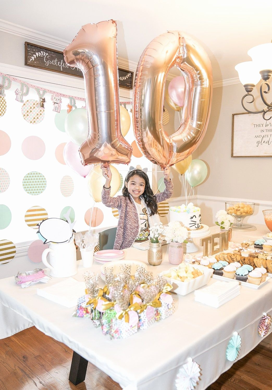 Birthday Decoration Ideas for Teenage Girl Luxury Girls 10th Birthday Party Ideas