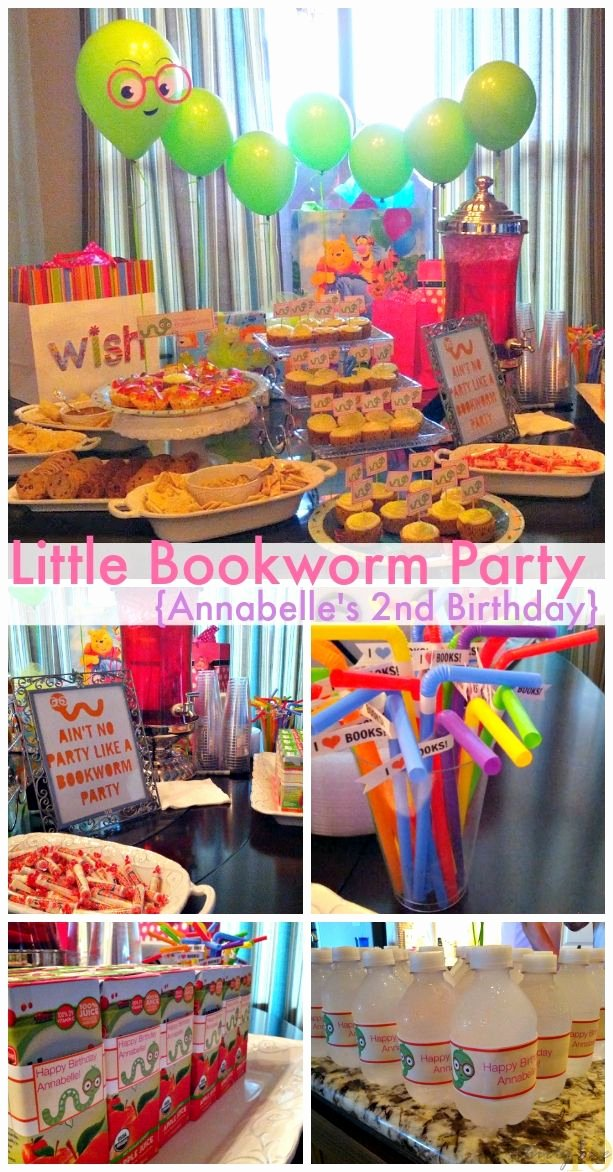 Birthday Decoration Ideas for toddler Beautiful Little Bookworm Party Annabelle S 2nd Birthday