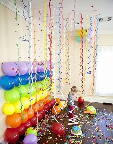 Birthday Decoration Ideas for Wall Inspirational Decorating with Balloons
