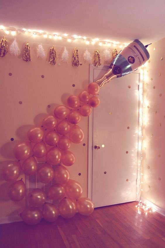 Birthday Decoration Ideas for Wall Lovely Diy 21st Birthday Party
