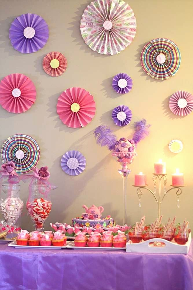 Birthday Decoration Ideas for Wall Unique Tea Party Birthday Party Ideas 2 Of 8