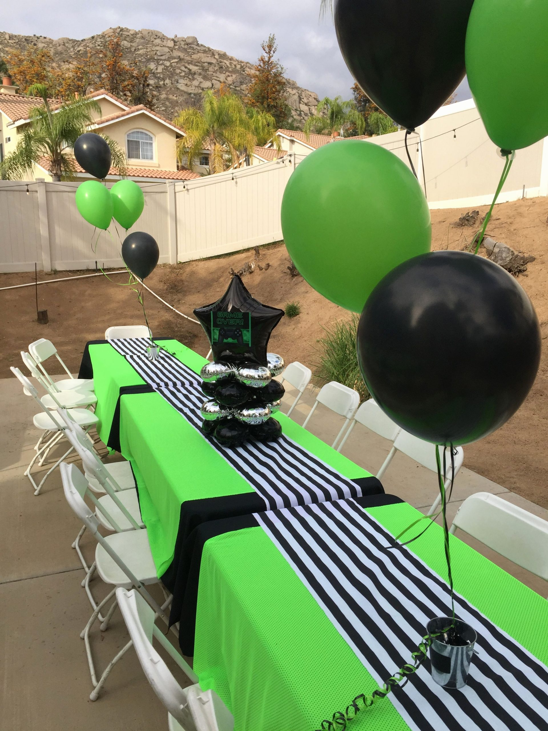 Birthday Decoration Ideas Green Fresh Boys 10th Birthday Party theme Green & Black