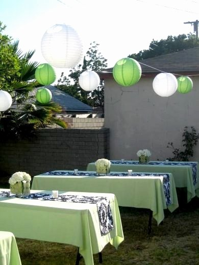 Birthday Decoration Ideas Green Fresh Damask and Green Birthday Party Ideas
