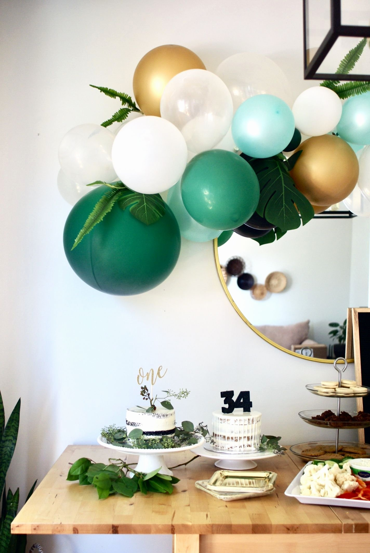 Birthday Decoration Ideas Green Fresh First Birthday Decor Child S Birthday Decor Balloons