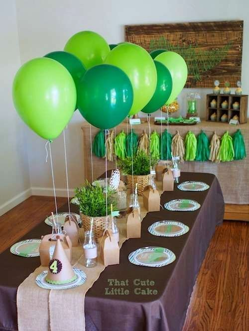 Birthday Decoration Ideas Green Inspirational Green and Brown Table at A Crocodile Birthday Party See