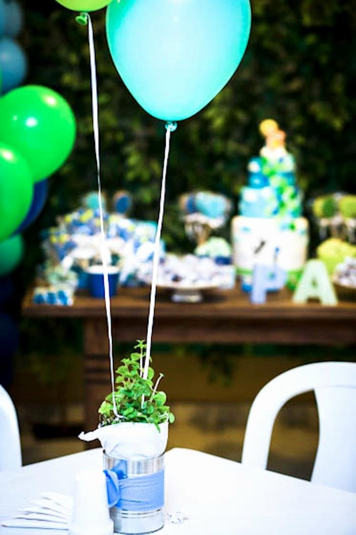 Birthday Decoration Ideas Green Luxury Kara S Party Ideas Green and Blue Balloon Party Decor