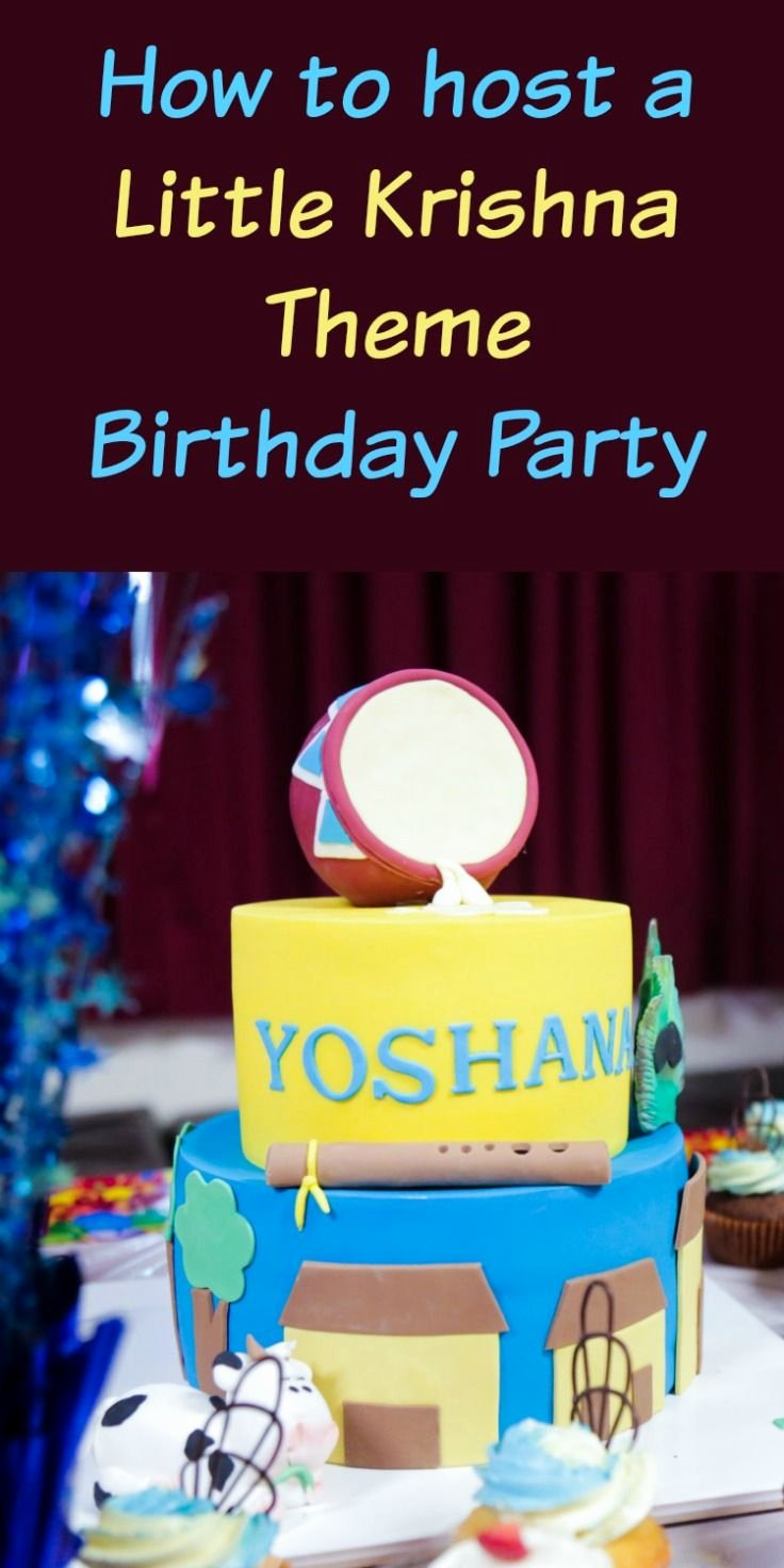 Birthday Decoration Ideas In India New How to Host A Little Krishna theme Birthday Party