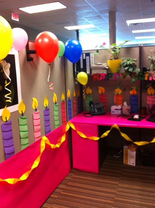 Birthday Decoration Ideas In Office Inspirational Birthday Cake Cubicle