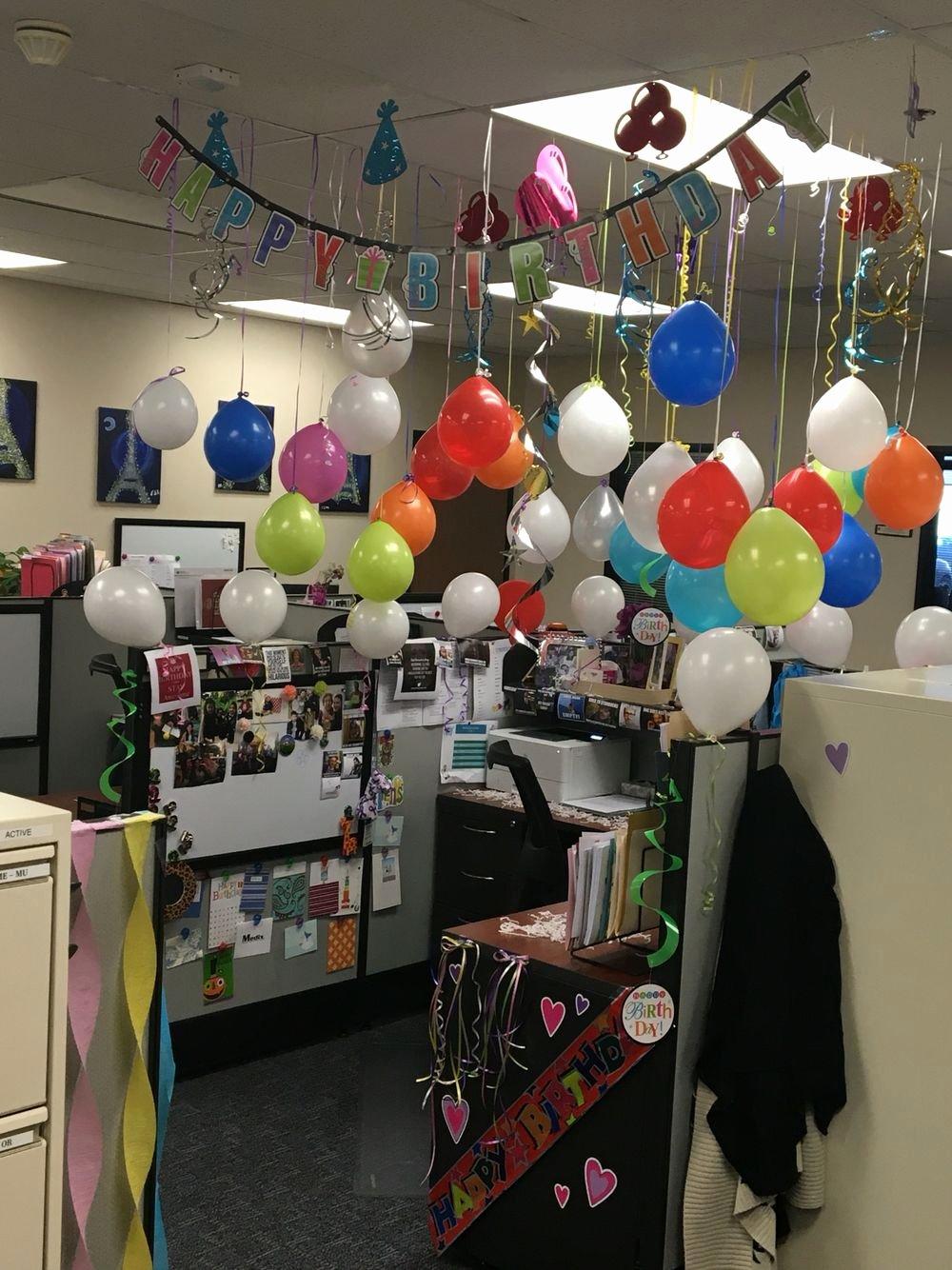 Birthday Decoration Ideas In Office Luxury Cubicle Birthday Decoration