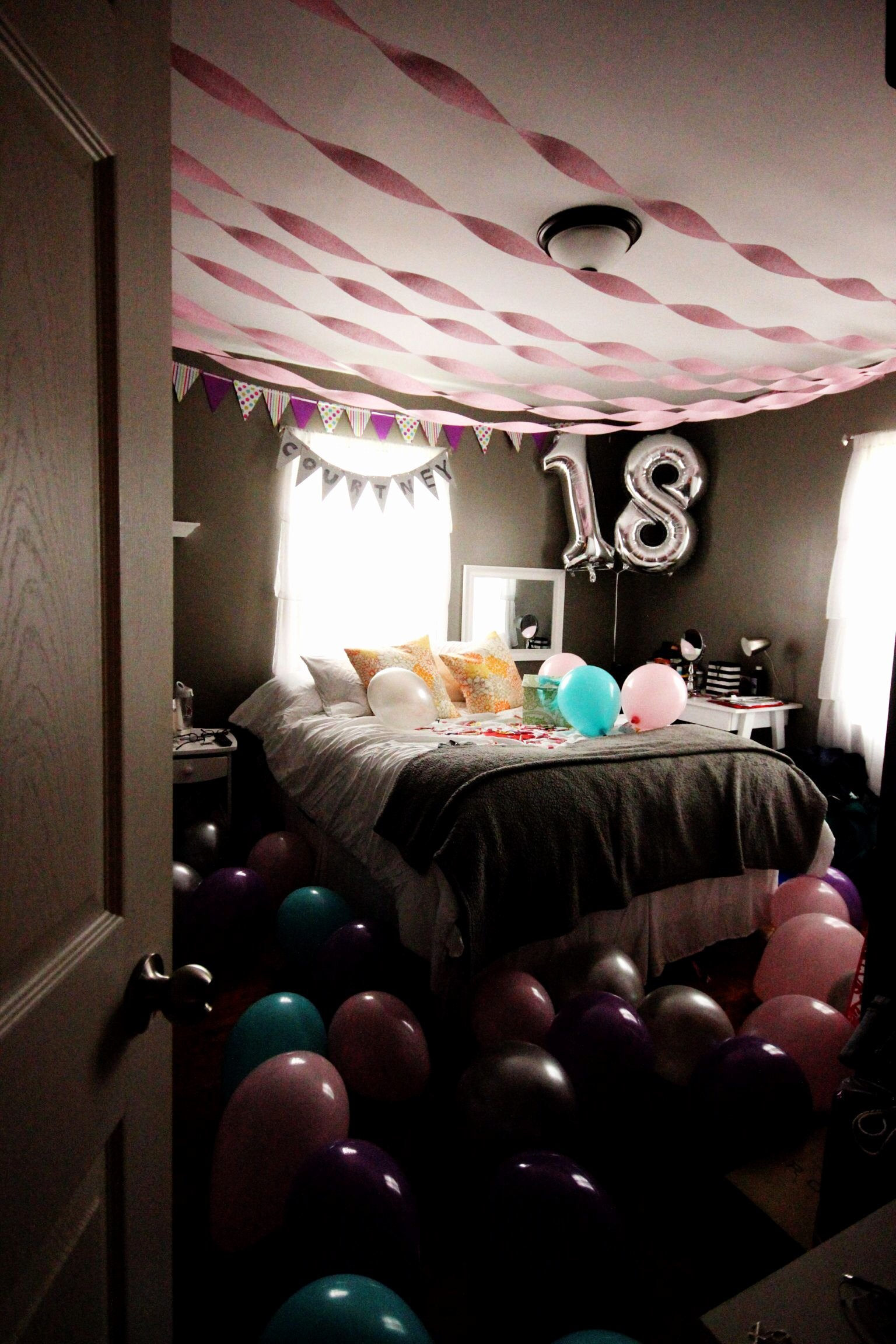 Birthday Decoration Ideas In Room New Bedroom Surprise for Birthday