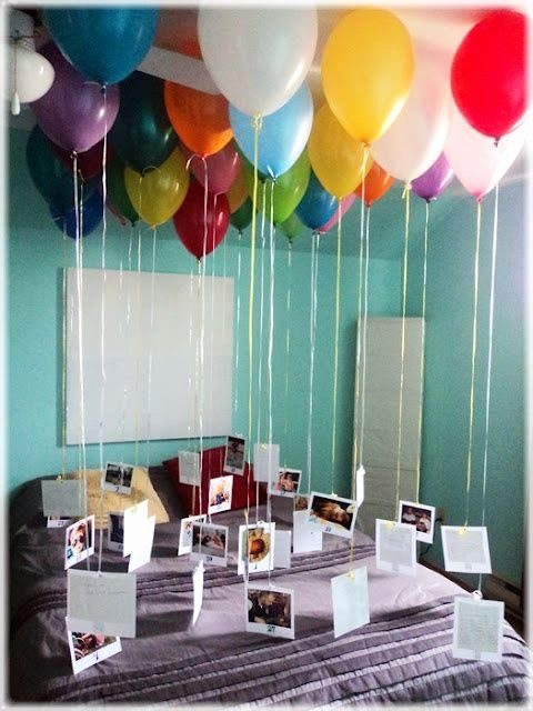 Birthday Decoration Ideas with Balloons at Home Inspirational Pin On for the Home