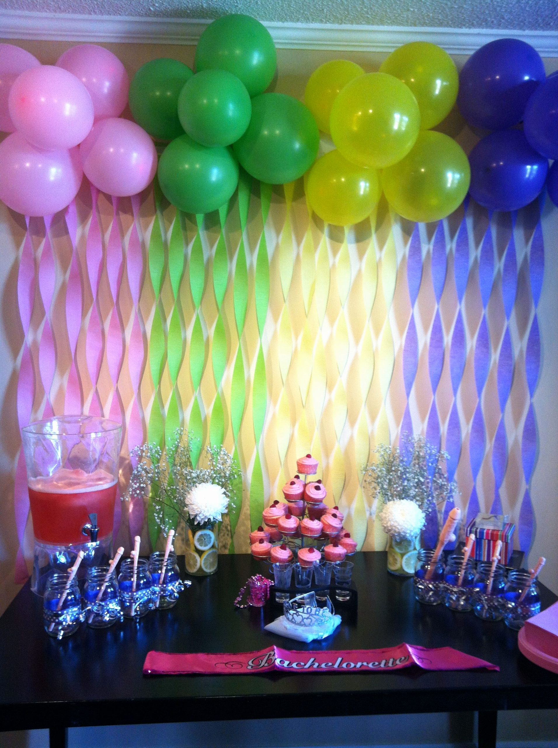 Birthday Decoration Ideas with Balloons at Home Luxury Bachelorette Party Decor
