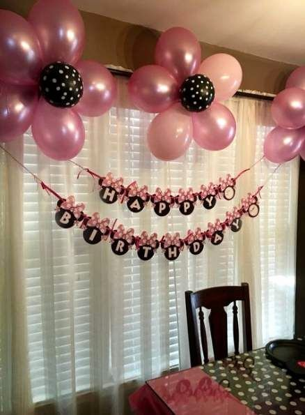 Birthday Decoration Ideas with Balloons at Home Unique Super Birthday Party Ideas Minnie Mouse Decoration Ideas