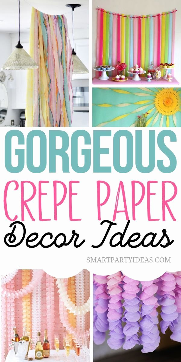 Birthday Decoration Ideas with Crepe Paper Awesome 22 Gorgeous Diy Crepe Paper Decor Ideas