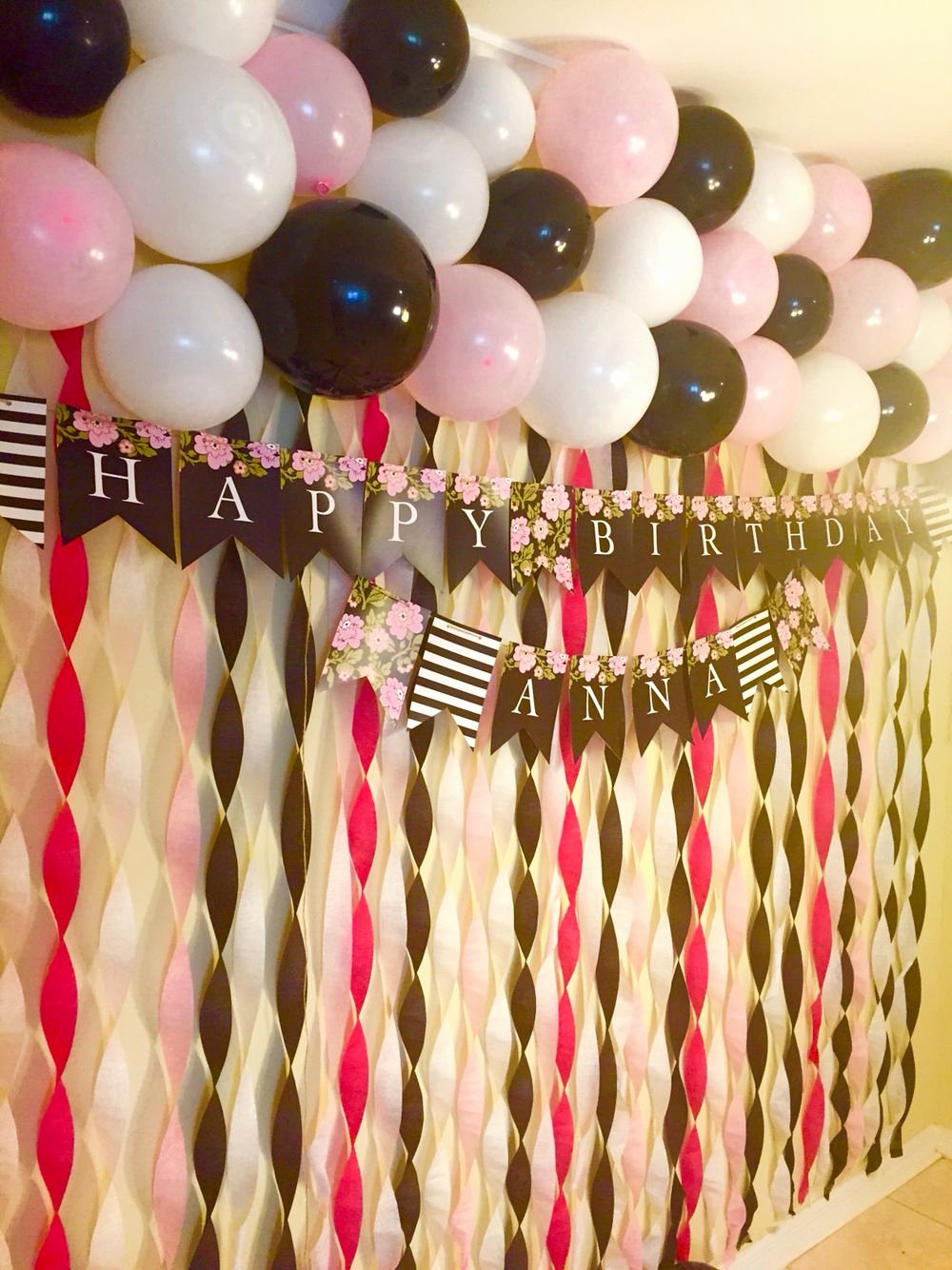 Birthday Decoration Ideas with Crepe Paper Beautiful Planned A Birthday Surprise for One Of My Besties Just Used