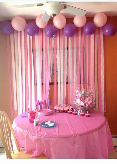 Birthday Decoration Ideas with Crepe Paper Best Of Crepe Paper Backdrop Girl theme Pink White Peach Crepe Paper