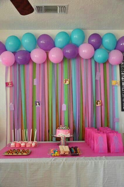 Birthday Decoration Ideas with Crepe Paper Elegant Colourful