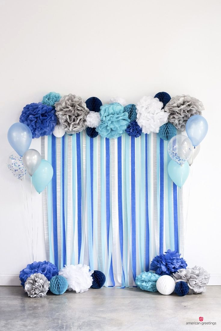 Birthday Decoration Ideas with Crepe Paper Unique Blue Birthday Party Ideas