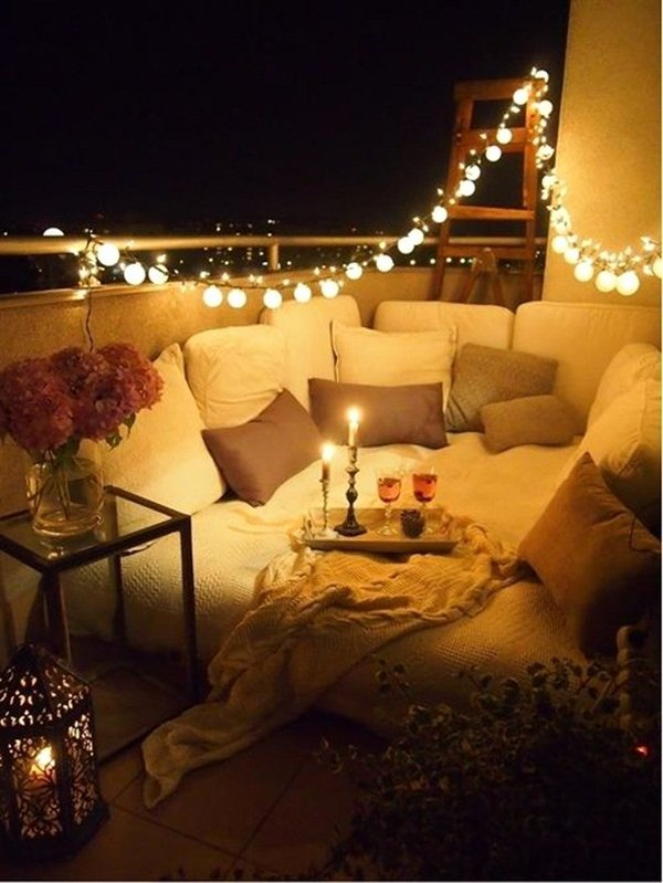 Birthday Decoration Ideas with Led Lights Awesome 80 Beautiful Terrace Light Decoration Ideas to Have