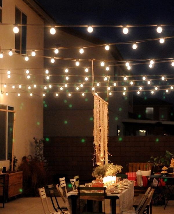 Birthday Decoration Ideas with Led Lights Elegant 80 Beautiful Terrace Light Decoration Ideas to Have