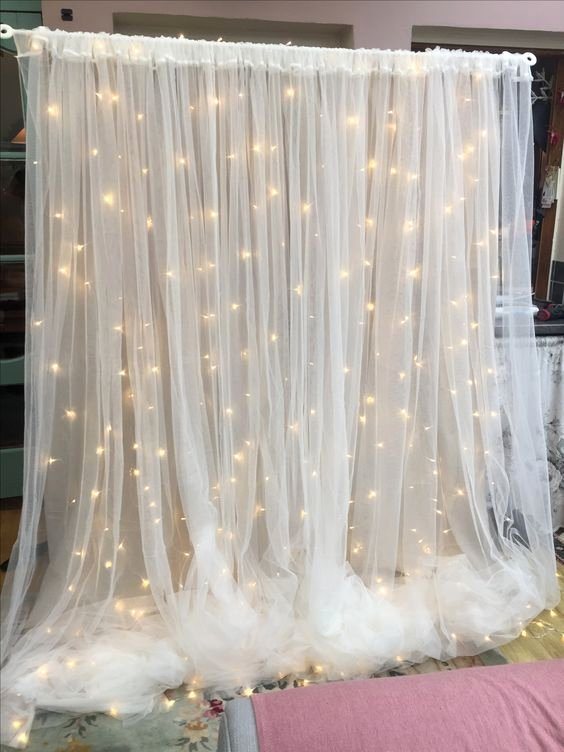 Birthday Decoration Ideas with Led Lights Fresh Sheer Backdrop with Led Lights