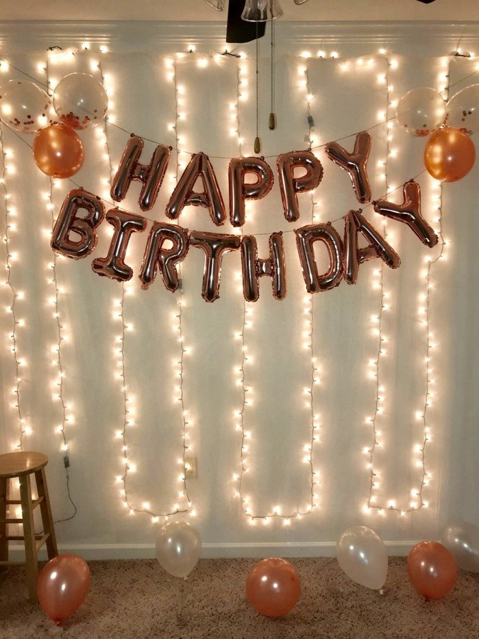 Birthday Decoration Ideas with Lights Elegant ▷ 1001 18th Birthday Ideas to Celebrate the Transition