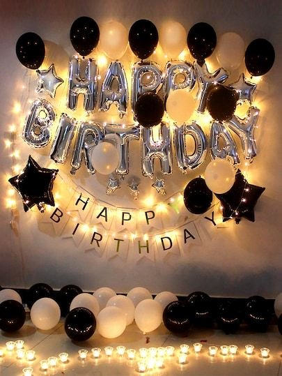 Birthday Decoration Ideas with Lights Fresh Product Name Birthday Decorative Balloon Set 48pcs at Shein