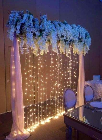 Birthday Decoration Ideas with Lights Inspirational Wedding Party Ideas Decoration Fairy Lights 65 Ideas
