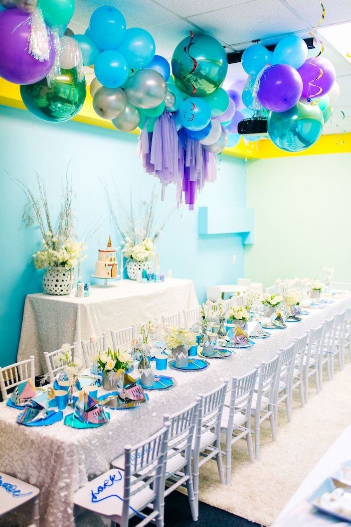Birthday Decoration Ideas with Pictures Fresh Kara S Party Ideas Modern Frozen Birthday Party