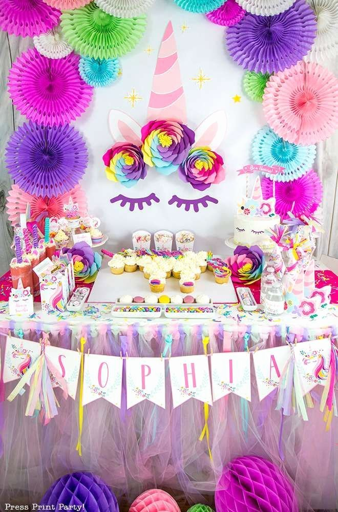 Birthday Decoration Ideas with Pictures Luxury Unicorns Birthday Party Ideas 1 Of 14
