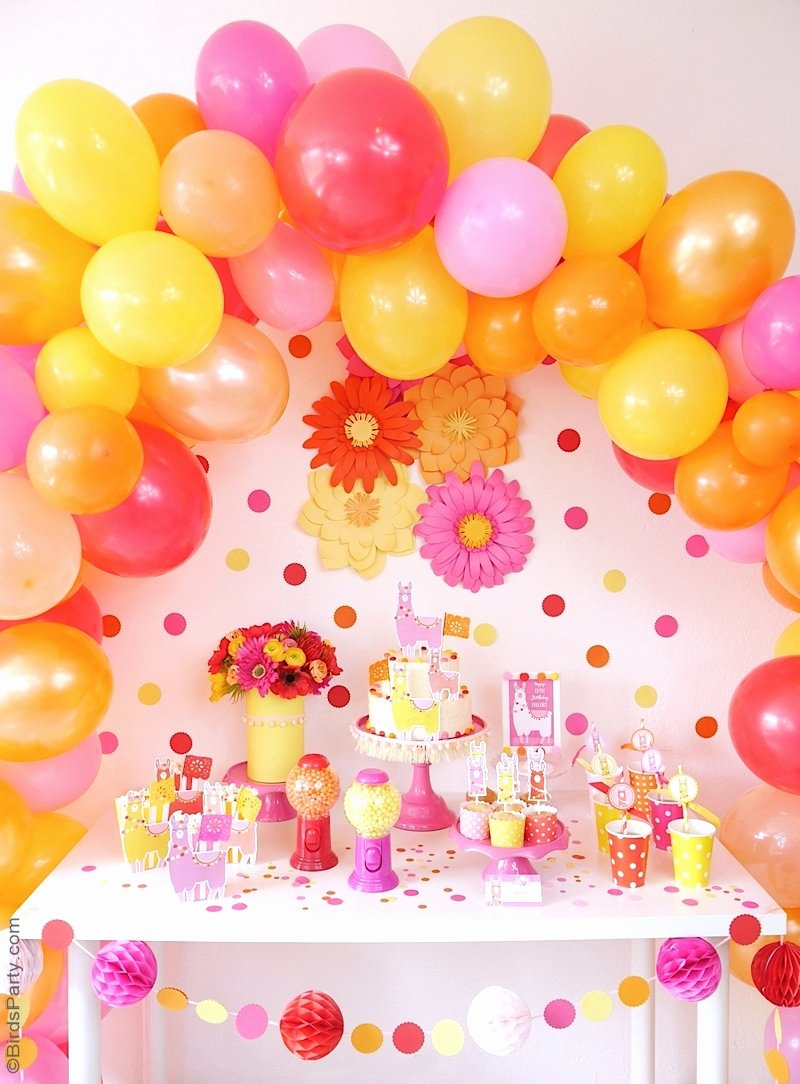 Birthday Decoration Ideas with Pictures New A Llama Fiesta Birthday Party Party Ideas