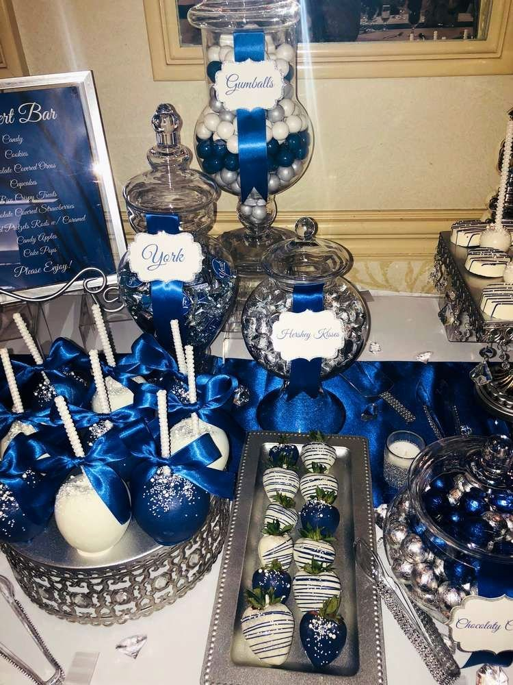 Blue and Silver Birthday Decoration Ideas Awesome Royal Blue Silver and White Wedding Party Ideas