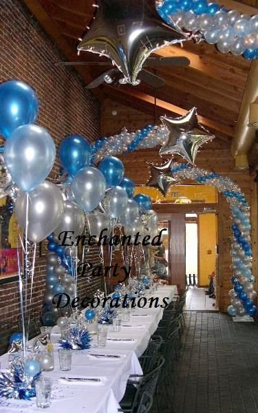 Blue and Silver Birthday Decoration Ideas Elegant Pin by Shani aslam On Jaremey S Party Ideas