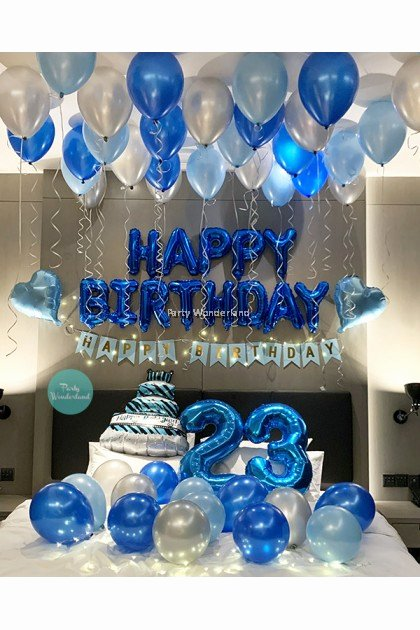 Blue and Silver Birthday Decoration Ideas Unique Room Decor