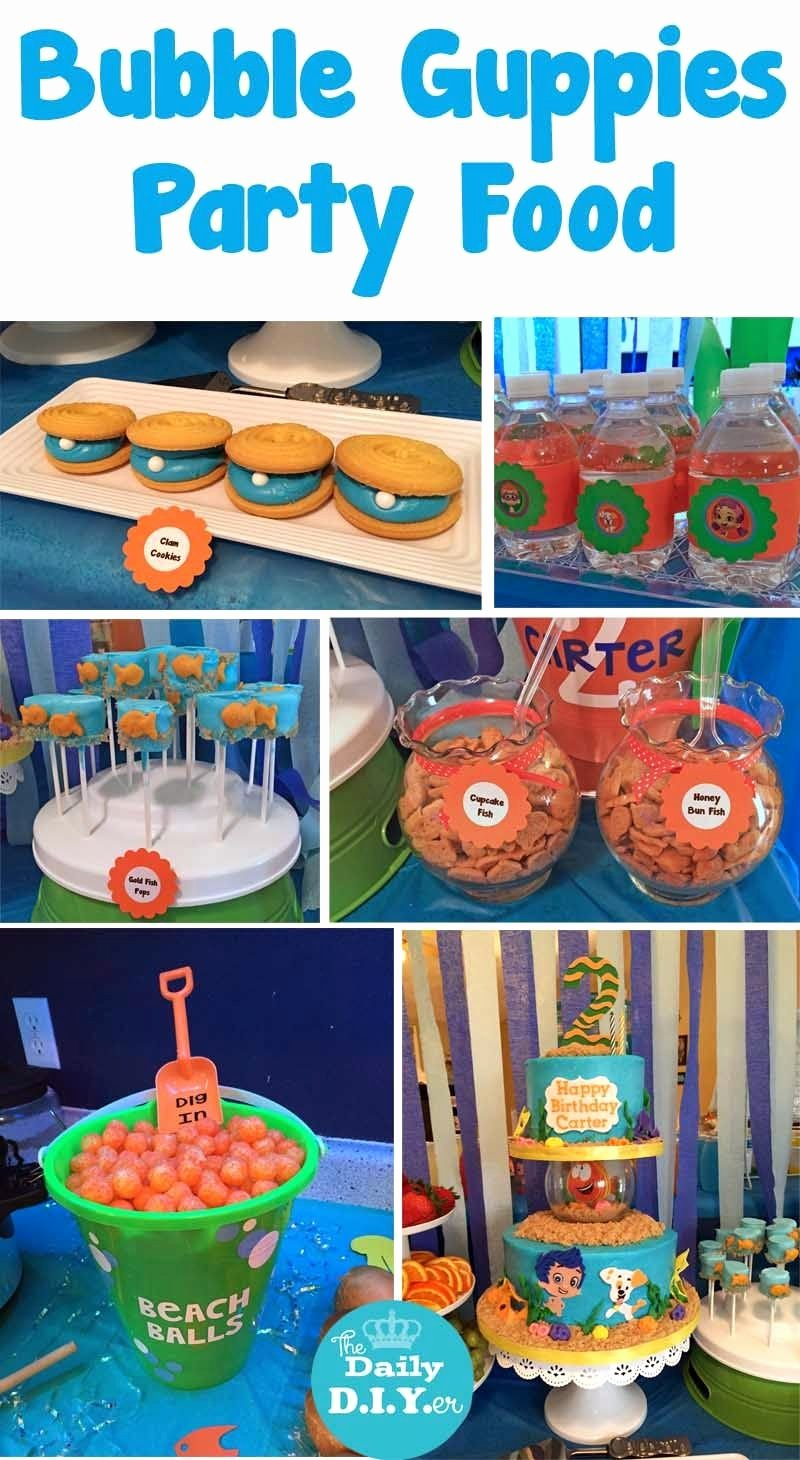 Bubble Guppies Birthday Decoration Ideas Elegant Bubble Guppies Party Food