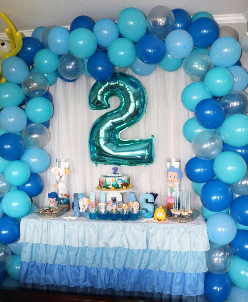 Bubble Guppies Birthday Decoration Ideas Fresh A Blue Ombre Bubble Guppies Birthday Party