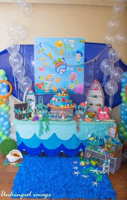 "Bubble Guppies Birthday Decoration Ideas Luxury Under Water Buble Guppies Birthday ""under Water Bubble"