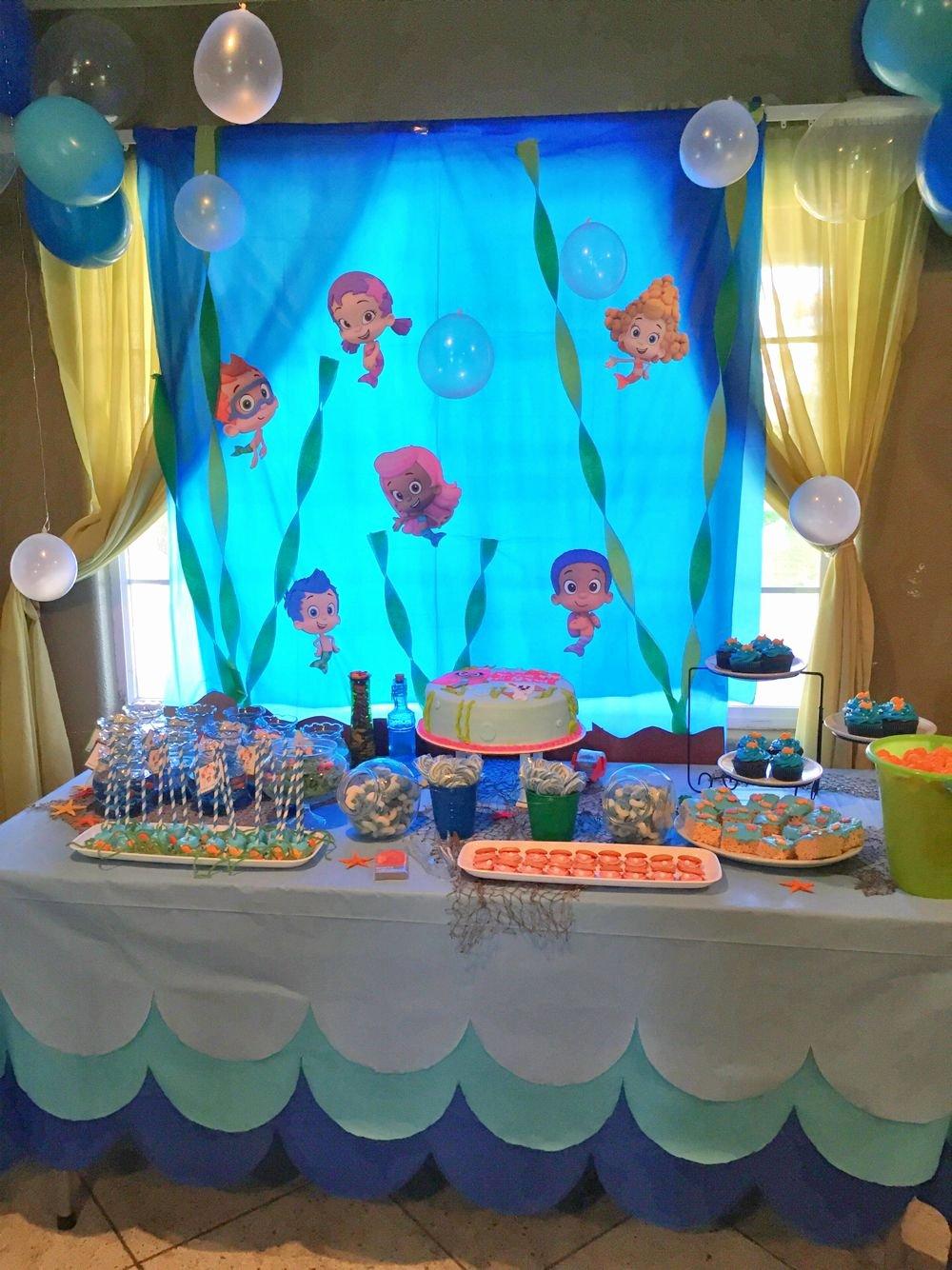 Bubble Guppies Birthday Decoration Ideas New Bubble Guppies Birthday Party Decorations