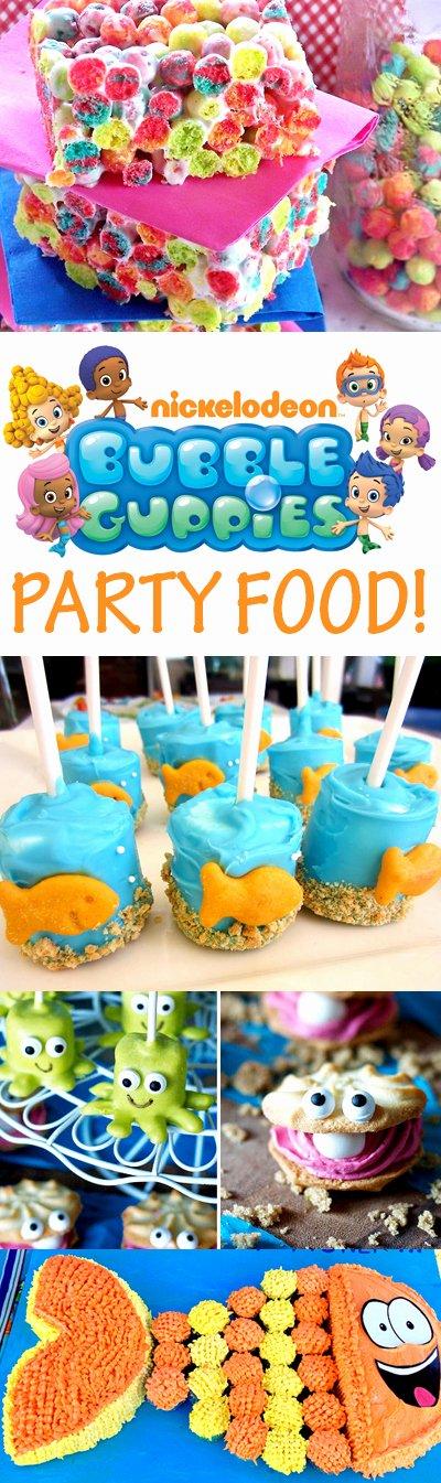 Bubble Guppies Birthday Decoration Ideas Unique Bubble Guppies Party Food Ideas Brownie Bites Blog