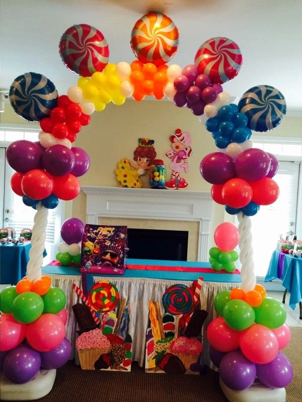 Candyland Birthday Decoration Ideas Elegant Candyland Ballon Decor