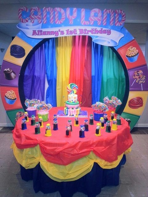 "Candyland Birthday Decoration Ideas Inspirational Candy Candyland Candy Land Birthday ""alianny S 1st"