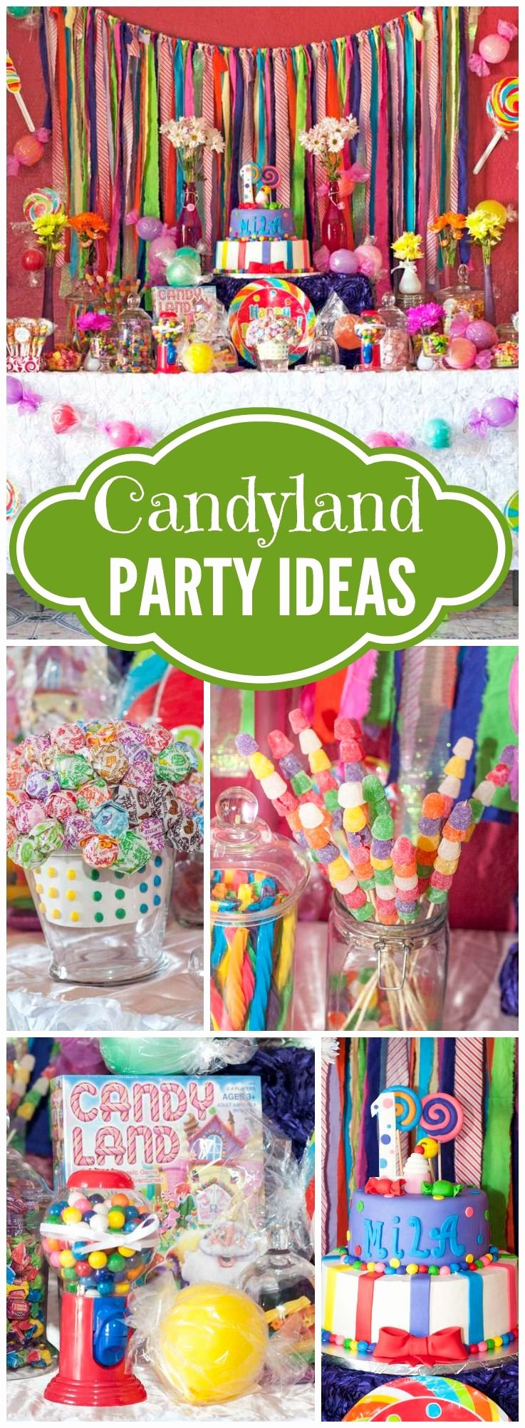 "Candyland Birthday Decoration Ideas Luxury Candyland Birthday ""mila S 1st Candyland"""