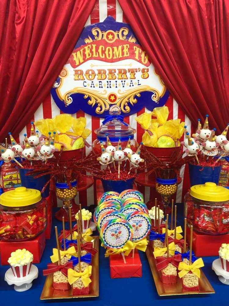 Carnival Birthday Decoration Ideas Awesome Carnival Birthday Party Ideas 1 Of 8