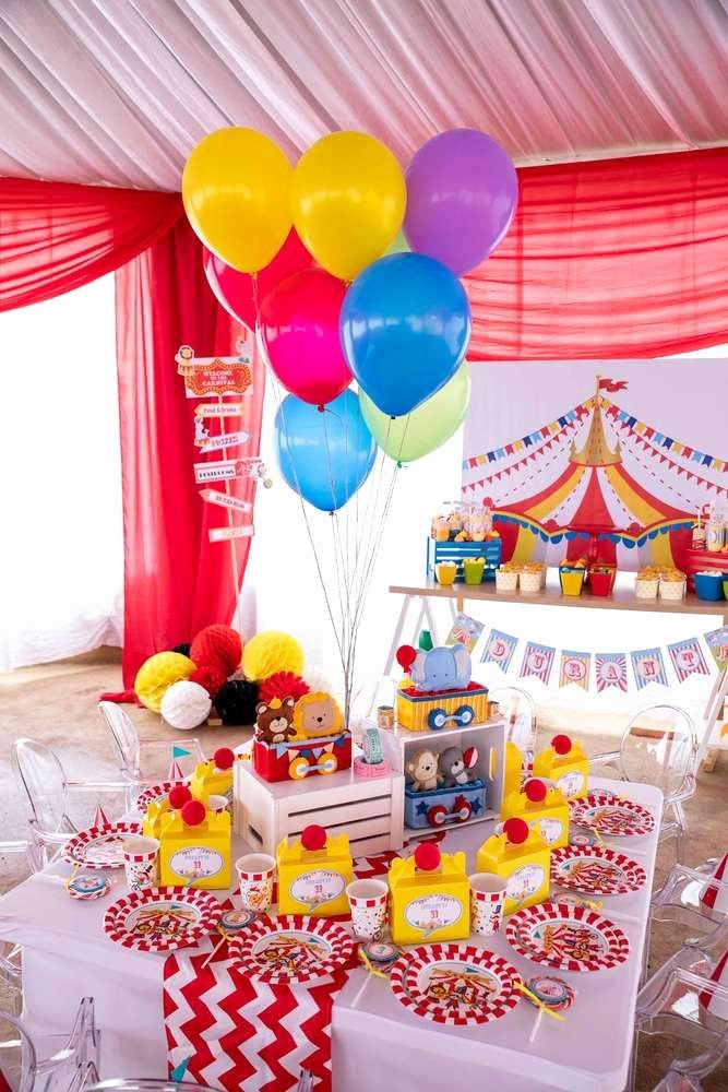 Carnival Birthday Decoration Ideas Best Of Circus Carnival Birthday Party Ideas